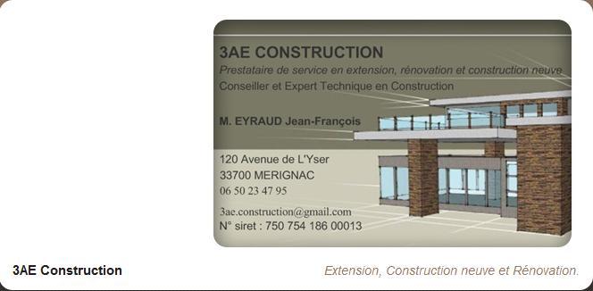 Accueil for Carte visite construction